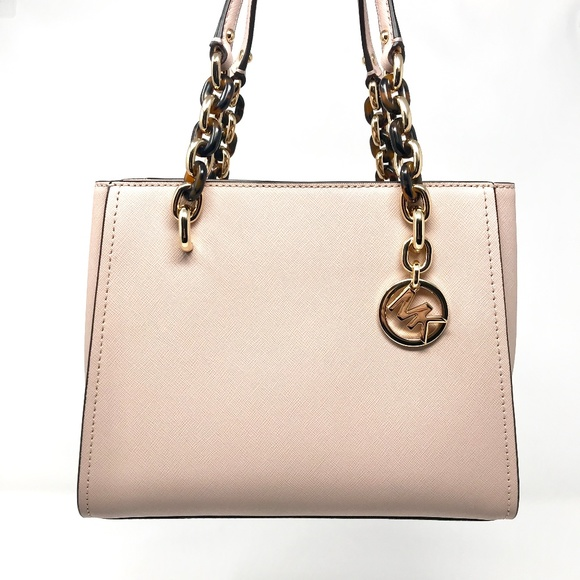 7cd574e145b7 MICHAEL KORS Sofia Satchel Saffiano Medium Ballet